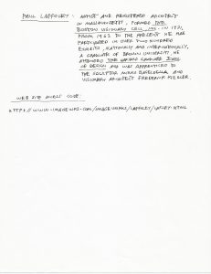 Scan 53 - Paul Laffoley letter 1